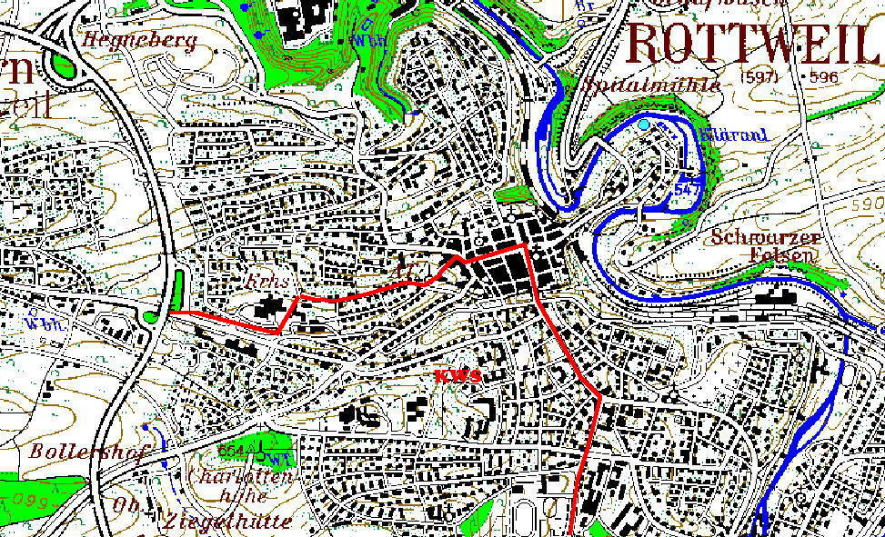 Karte Schulbezirke Rottweil