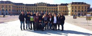 Gruppenfoto Klasse 9 auf Abschlussfahrt