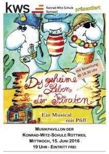 """Einladung Musical Die KWS lädt zum Musical ein: """"Das geheime Leben der Piraten"""""""