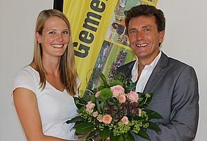 Willy Schmidt und Stefanie Hess, Begrüßung der neuen Konrektorin