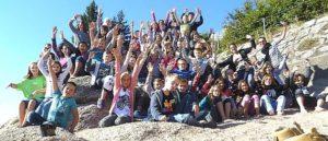 Gruppenbild Schüler der KWS bei einem Ausflug