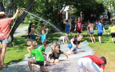 Wasserspaß an der KWS statt Hitzefrei