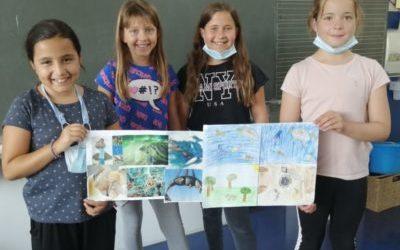 Vier engagierte Schülerinnen aus der Klasse 3b starten Initiative gegen Plastikmüll