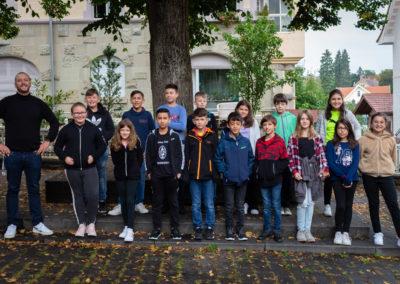 Foto der Klasse 5b mit Herrn Welsch