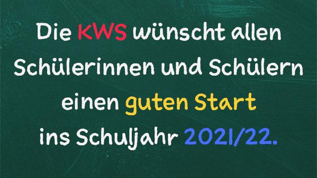 Begrüßung zum neuen Schuljahr 2021/22